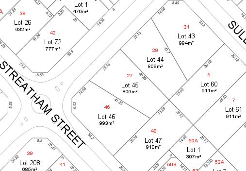 corner block subdivision potential example