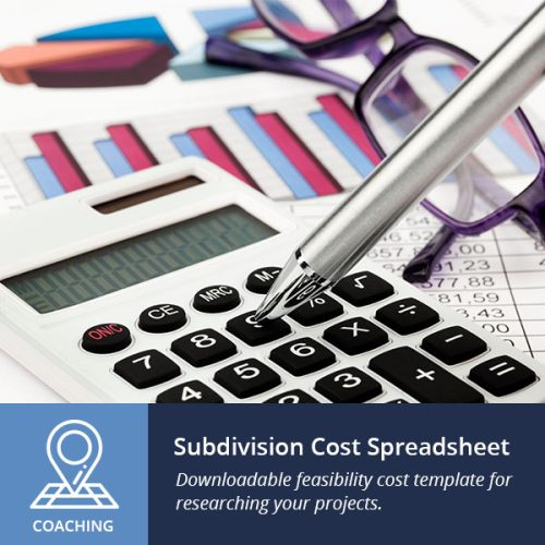 subdivision cost spreadsheet